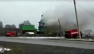 В Челябинской области сгорела деревянная церковь