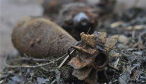 В рПарковом нашли старый боевой снаряд