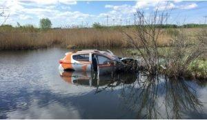Каршеринговую машину утопили недалеко от Челябинска