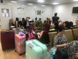 аэропорт туристы застряли в корее