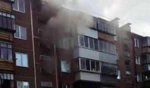 Пожар в многоэтажке Миасса