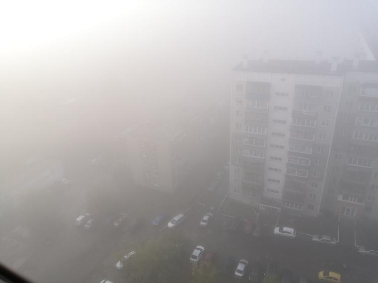туман самолеты машины