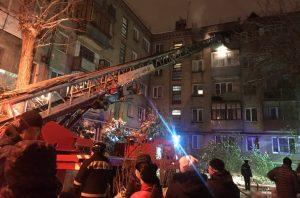 При аожаре в Челябинске пострадал мужчина