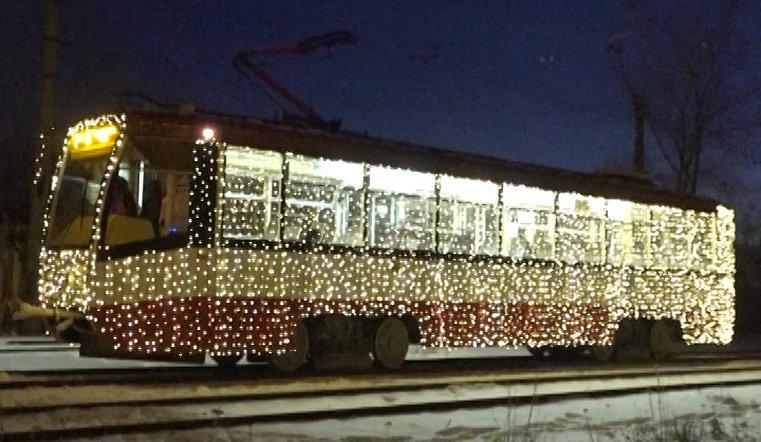 К празднику готов. Новогодний трамвай прокатится по улицам Челябинска