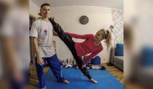 Главное – не сдаваться. Уральская тхэквондистка показала, как в квартире готовится к Олимпийским играм