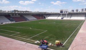 За 54 миллиона рублей. В Челябинске появилось идеально ровное футбольное поле