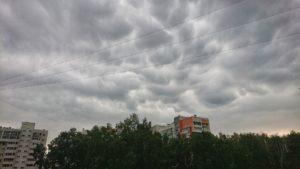 Фантастически красивы. Над Челябинском заметили вымеобразные облака