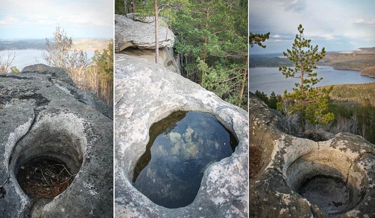 Идеальный круг. Туристы сфотографировали в горах Урала лунки инопланетян