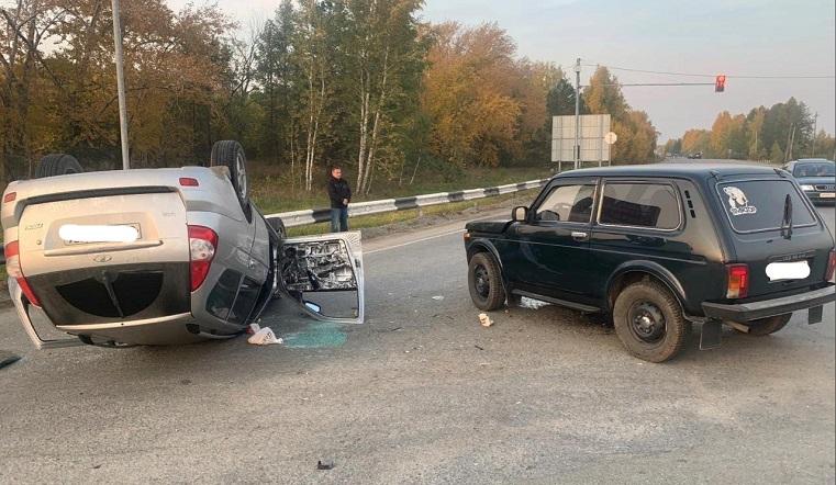 Лада-перевертыш. На трассе в Челябинской области случилось смертельное ДТП