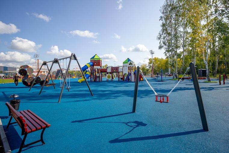 Самая большая на Южном Урале детская площадка появилась в Коркино
