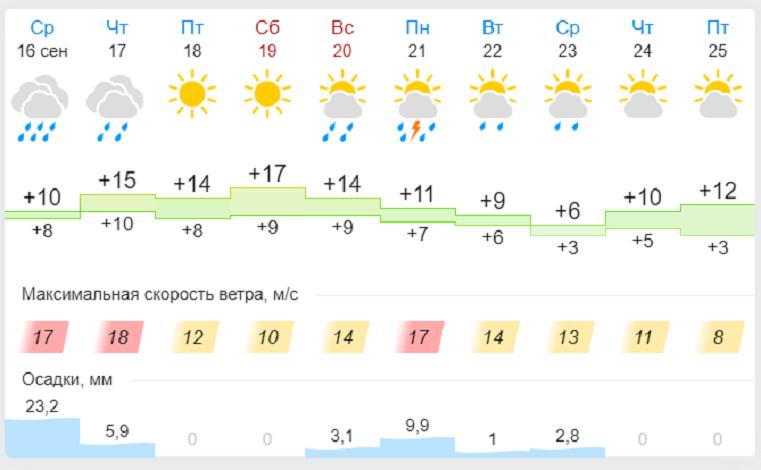 Погода в Челябинской области: циклон принес на Урал дожди и сильный ветер