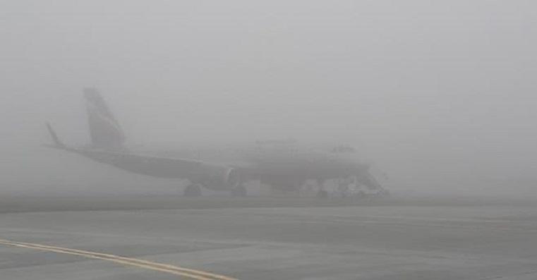 Задержка рейсов. Густой туман в Челябинске парализовал работу аэропорта
