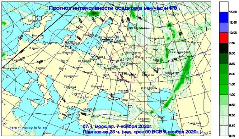 Как из ведра. На Урал надвигается мощный дождевой фронт с Каспийского моря