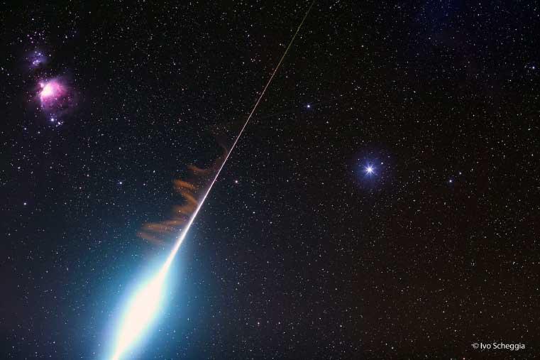 Космический салют. Над Землей пронесется яркий метеорный поток Тауриды. Метеоры