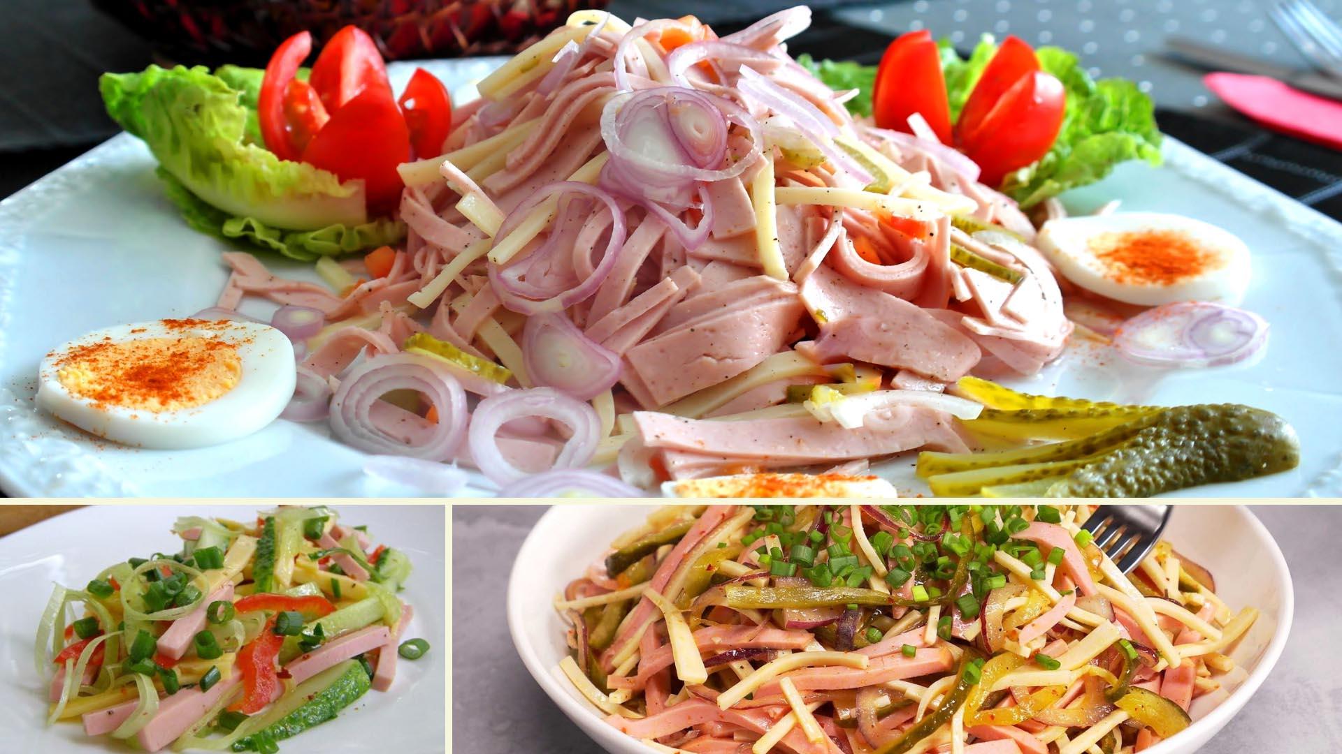 Салат с колбасой по-швейцарски. Простой вкусный рецепт с фото на новогодний стол 2021