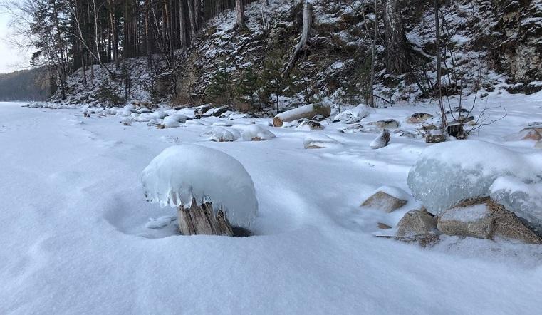 Ледяные грибы. Необычное природное явление заметили в Челябинской области