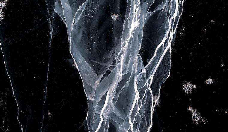 Инопланетный рисунок. Странные знаки заметили на льду уральского озера