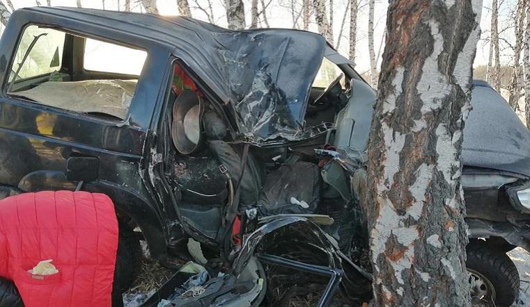 Внедорожник протаранил дерево. Женщина разбилась насмерть в ДТП на Урале