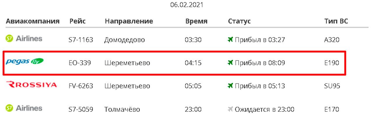 Самолет Москва — Магнитогорск вынужденно сел из-за трещин в стекле