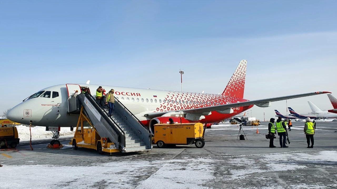 """""""Россия"""" назвала новый самолет SSJ-100 в честь Магнитогорска"""