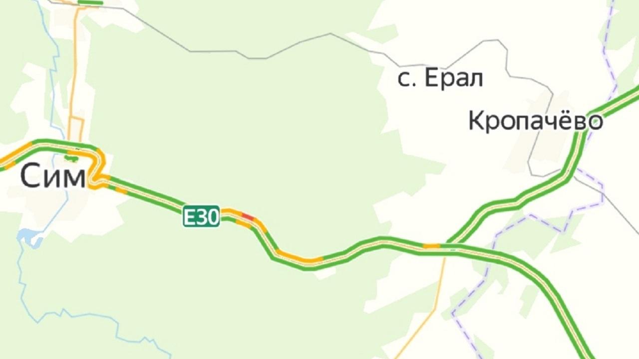 Пробка на трассе М5 в Челябинской области: какой участок лучше объехать