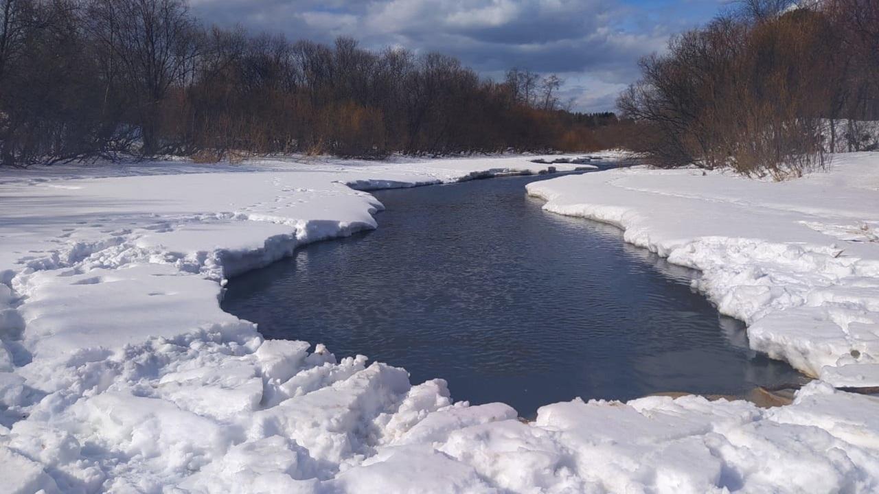 Трое детей оказались на тонущей льдине в Челябинской области
