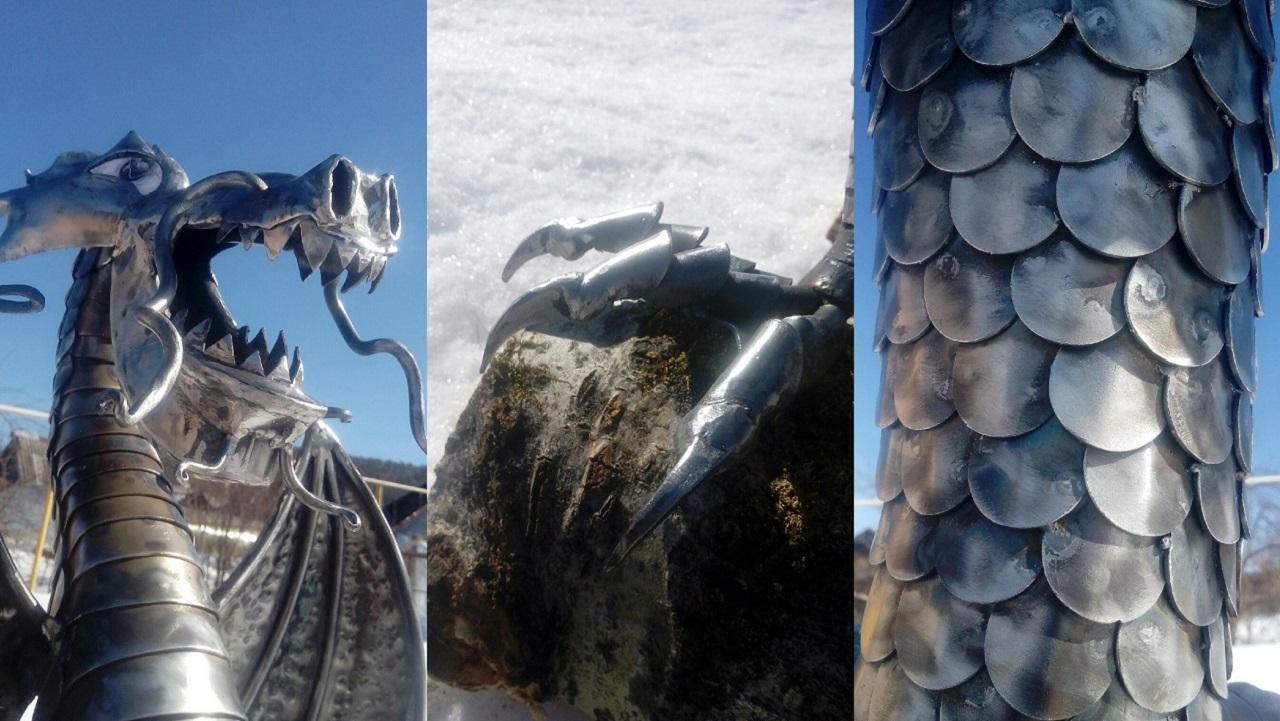 Чудо-Юдо: в Челябинской области умелец сделал дракона из монет