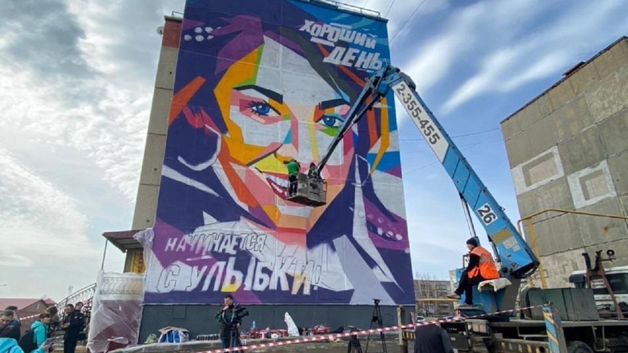 Рисунок высотой с пятиэтажку появился в Челябинской области