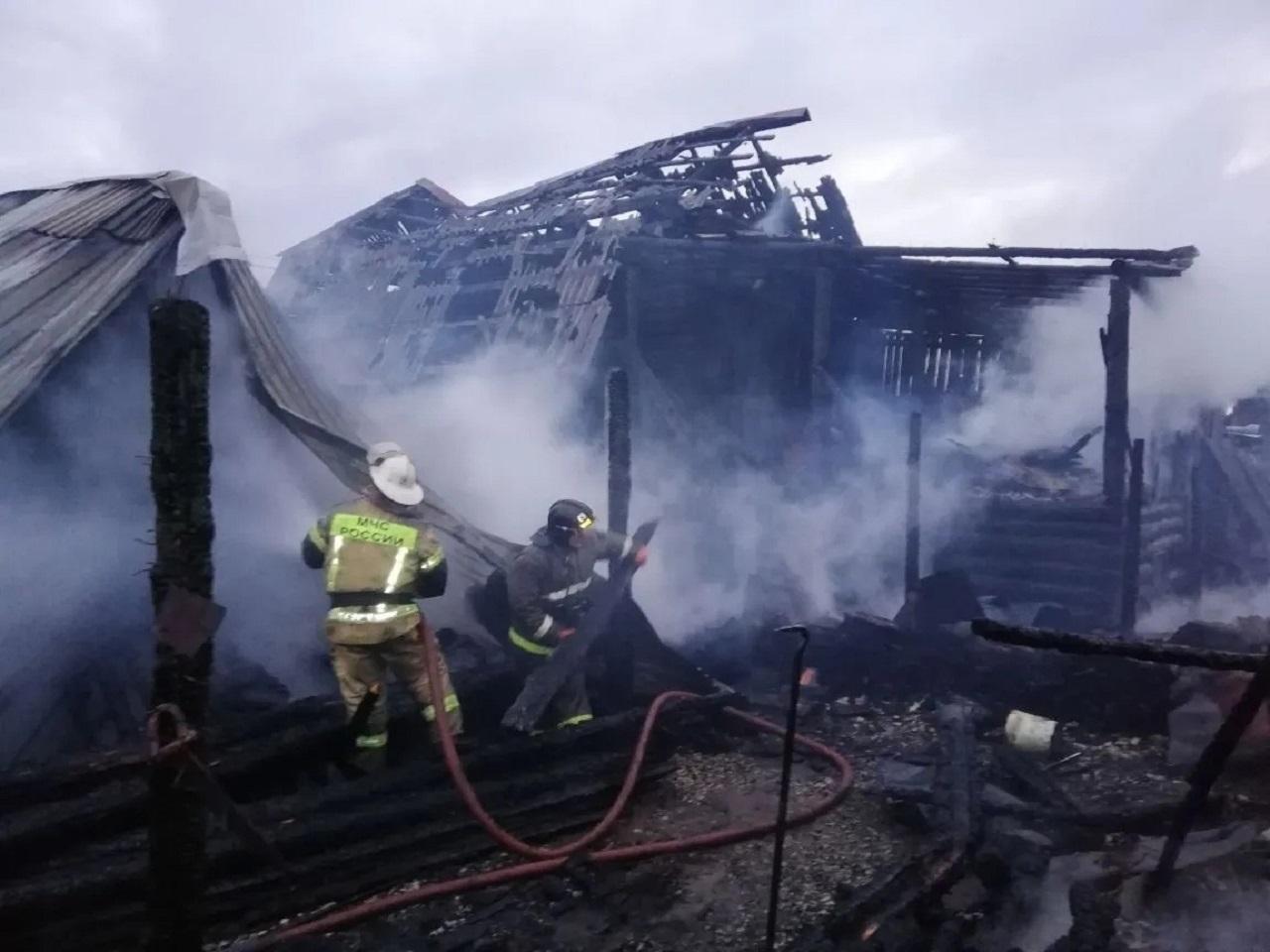 Сгорели 2 дома: 3 человека погибли при пожаре в Челябинской области