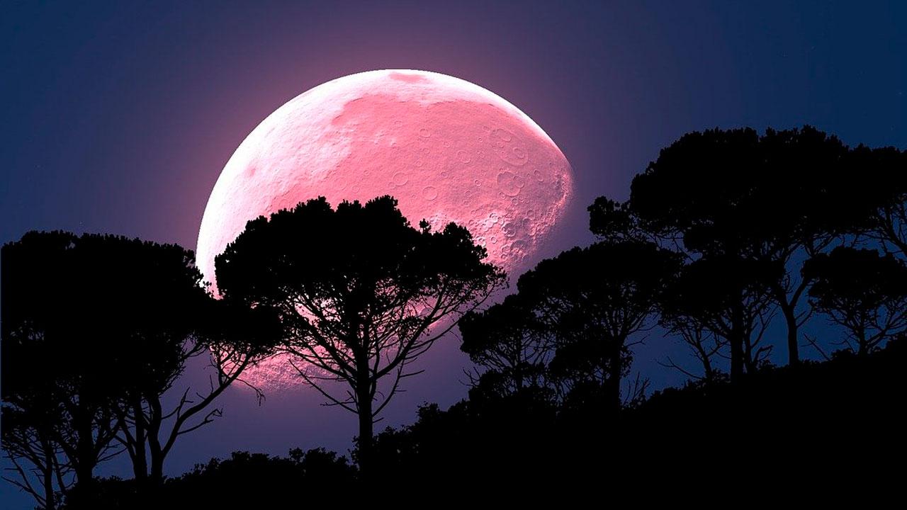 Полнолуние в апреле 2021: что сулит Розовая Суперлуна