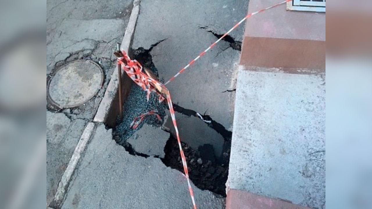 «По принципу домино»: на Куйбышева в Челябинске образовался новый провал