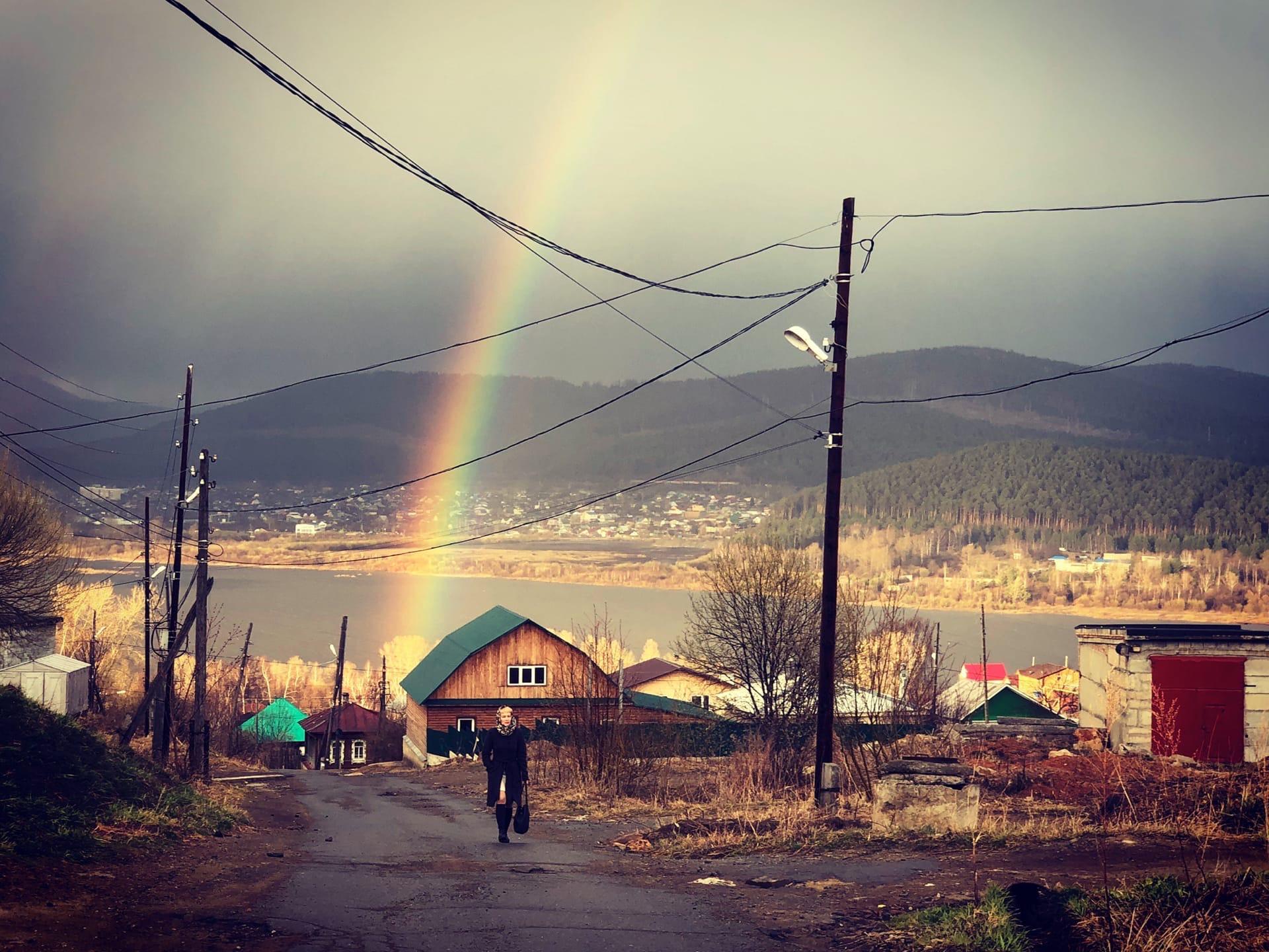 Подарок с небес: жители Челябинской области сфотографировали необычную радугу