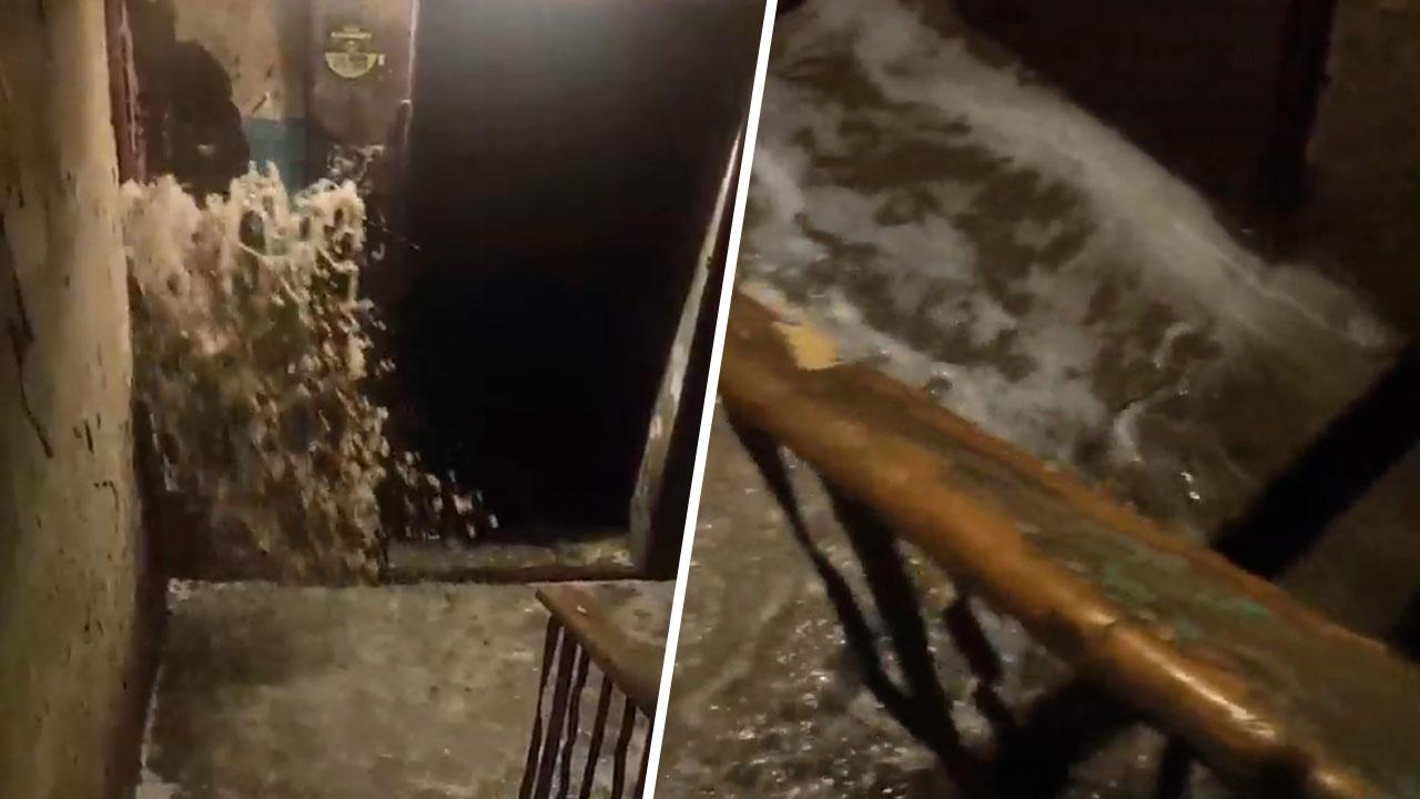 «Ниагарский водопад»: на Южном Урале в подъезде дома полилась вода ВИДЕО