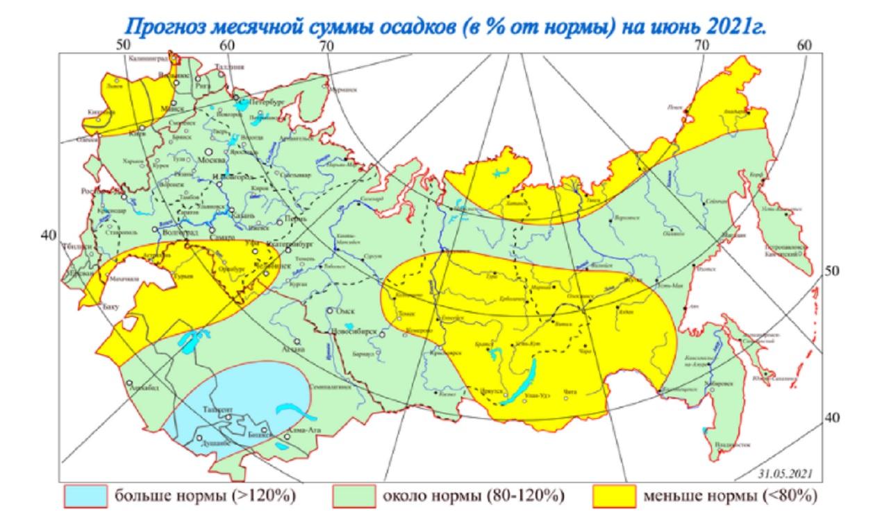 Аномальная погода в Челябинской области ожидается в июне