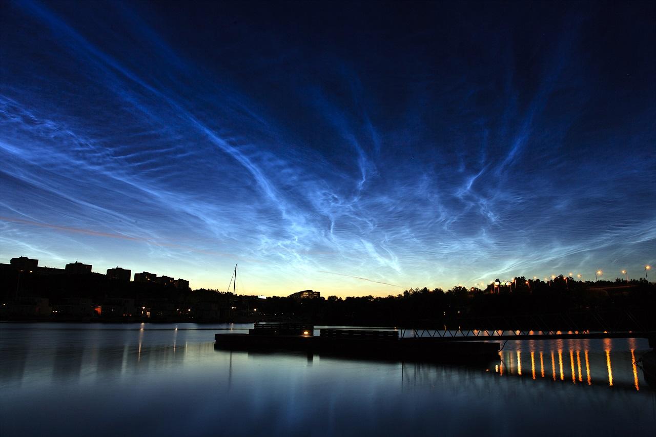 Голубое свечение: редкое природное явление в небе над Челябинском
