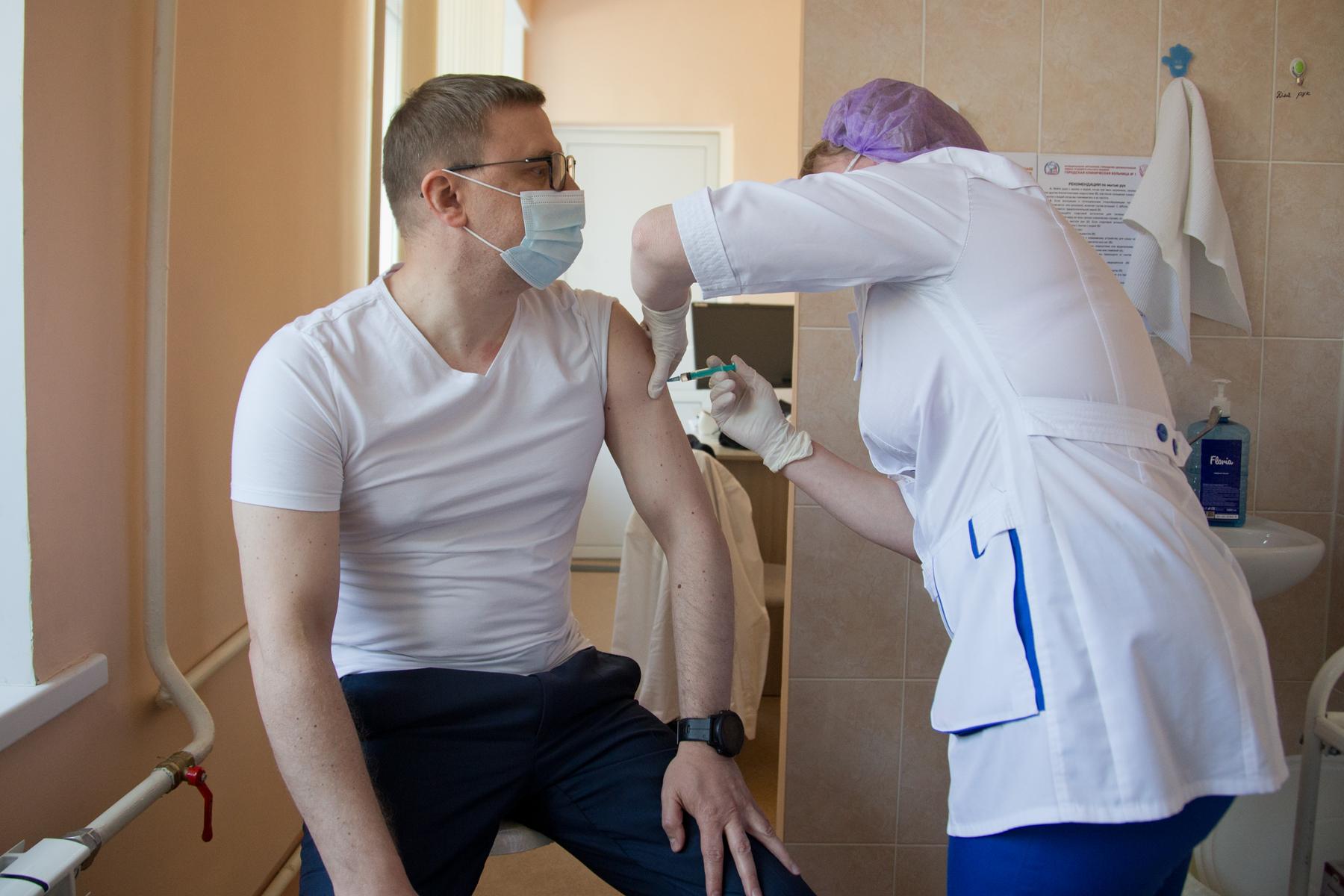 350 тысяч южноуральцев получили первый компонент вакцины от коронавируса