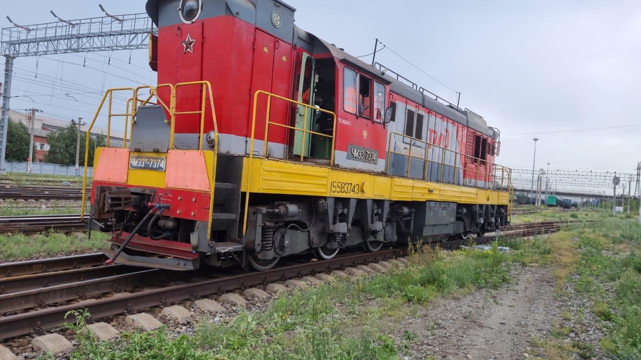 Локомотив сошел с рельсов в Челябинской области