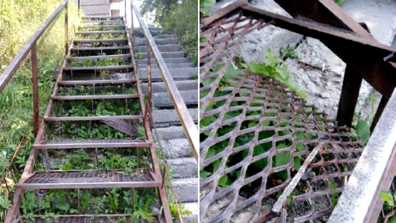 Как в мясорубке: лестница рухнула под ногами школьницы на Южном Урале