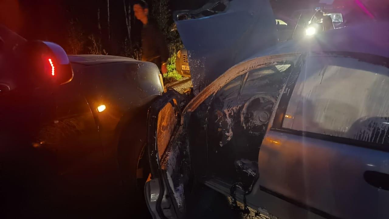 Лобовое ДТП в Челябинской области, есть пострадавшие