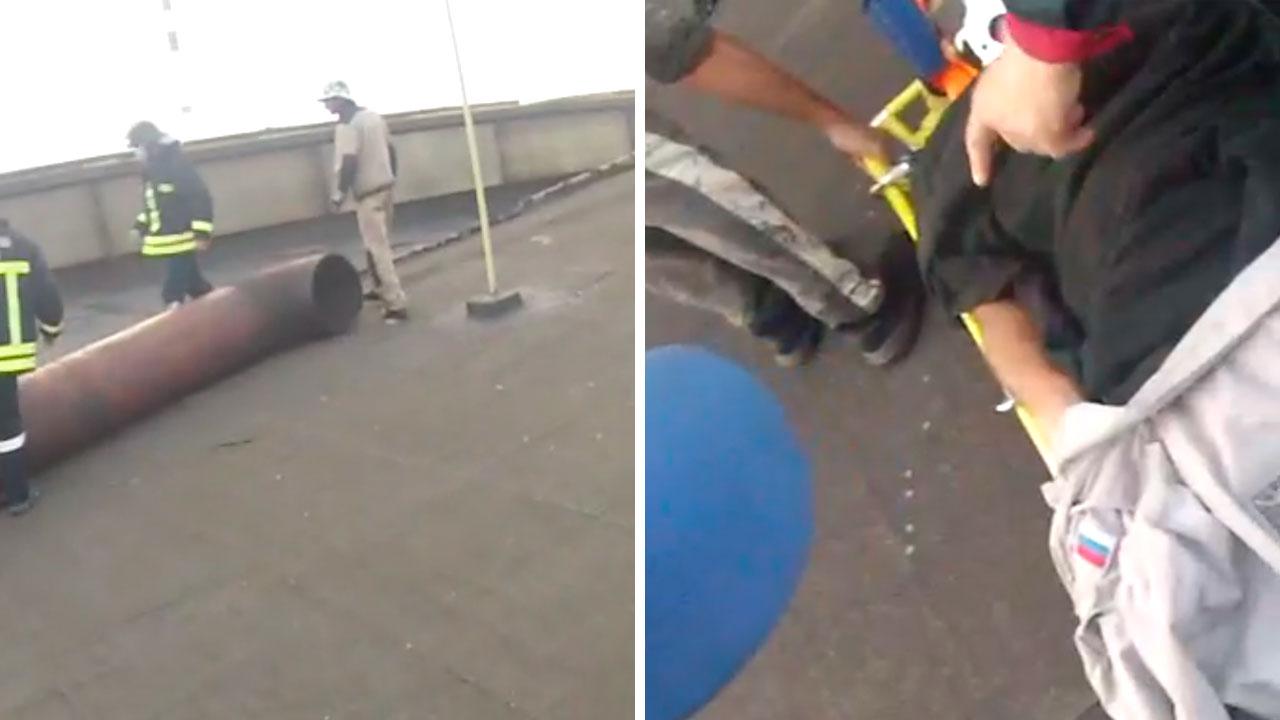 Сняли с крыши: рабочий в Челябинске упал на 30-метровой высоте