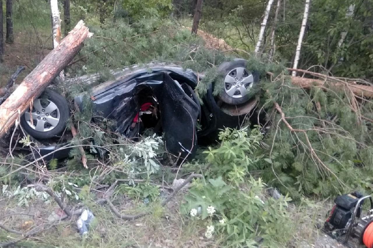 Врезались в дерево и перевернулись: страшное ДТП на Южном Урале, есть погибшие