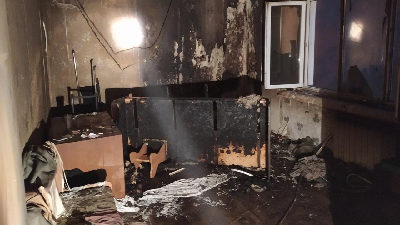 Во время тушения пожара в Челябинске нашли тело мужчины