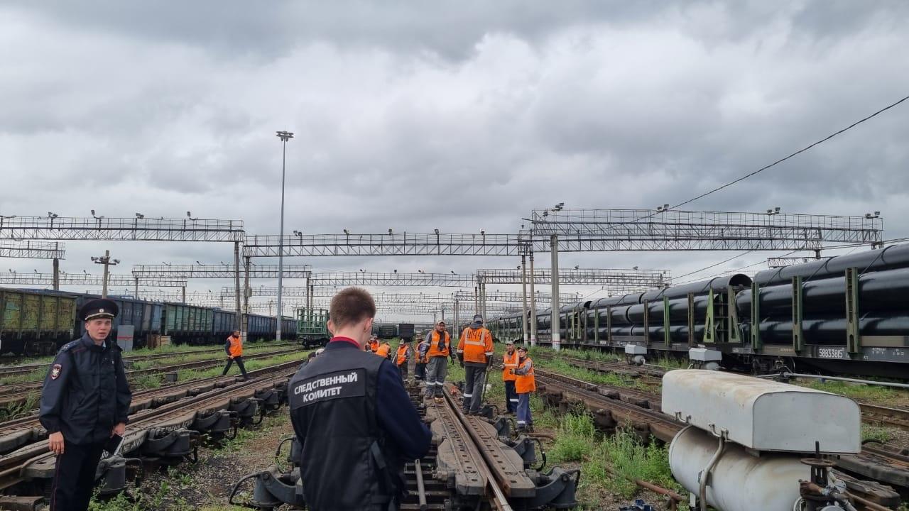 Вагон сошел с рельсов на станции в Челябинске