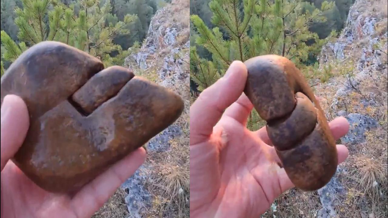 Каменная мышка: странный булыжник нашли в Челябинской области ВИДЕО