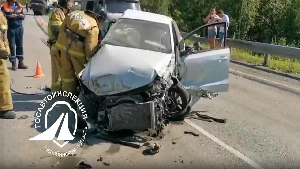 Тройное ДТП на трассе М5 в Челябинской области: погибла женщина ВИДЕО