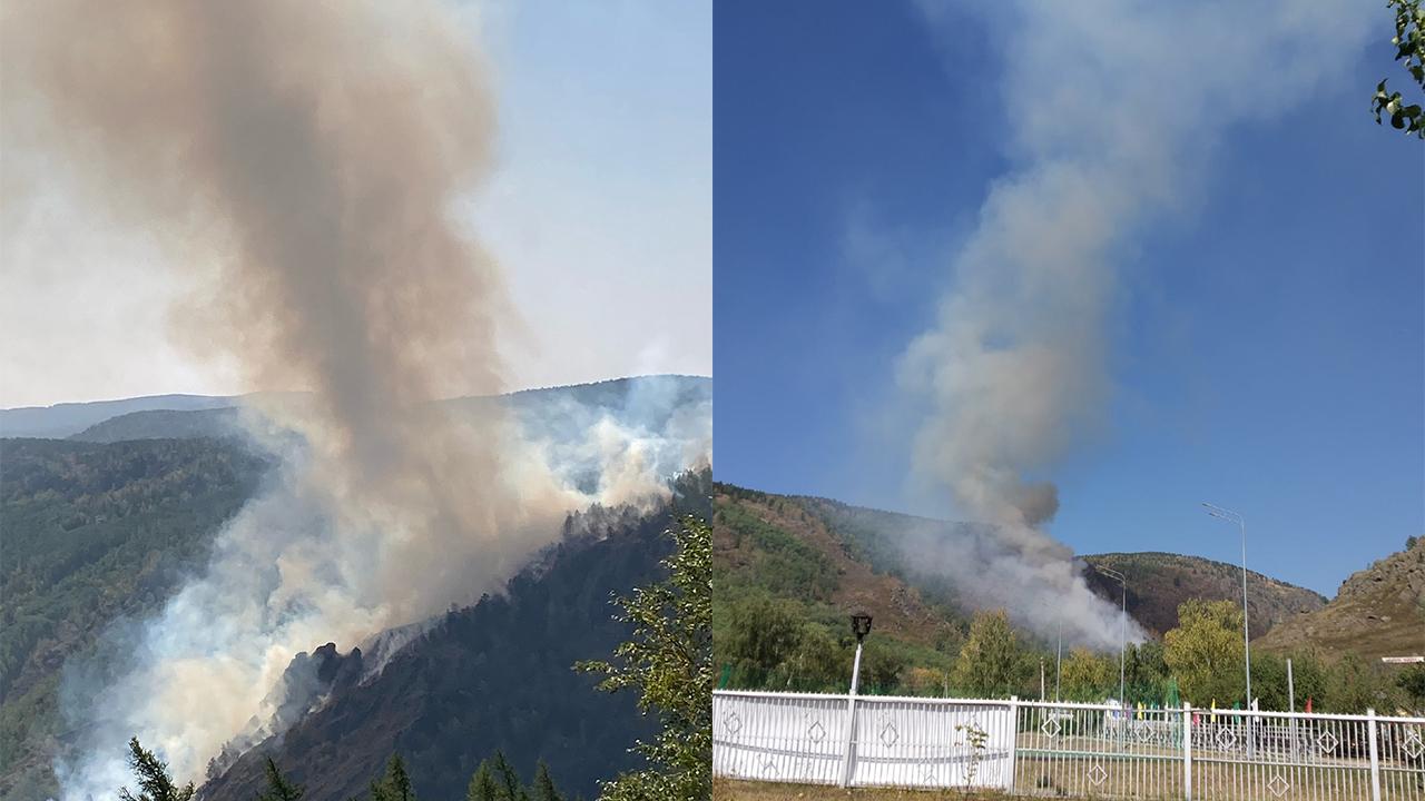 Эвакуируют детей: под Магнитогорском разгорелся крупный пожар возле детского лагеря