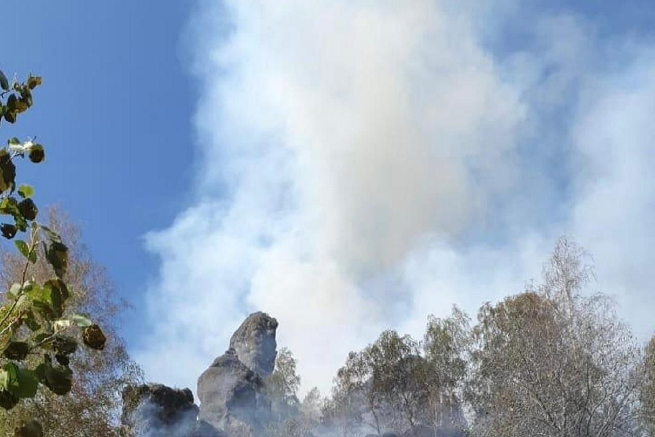 Лес горит уже сутки: растет площадь пожара у детского лагеря под Магнитогорском