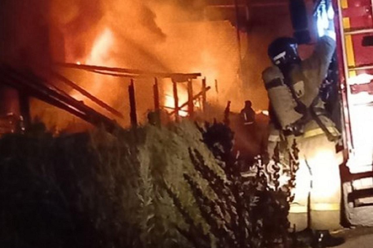 Ночное зарево: пожар вспыхнул возле вокзала в Челябинской области ВИДЕО