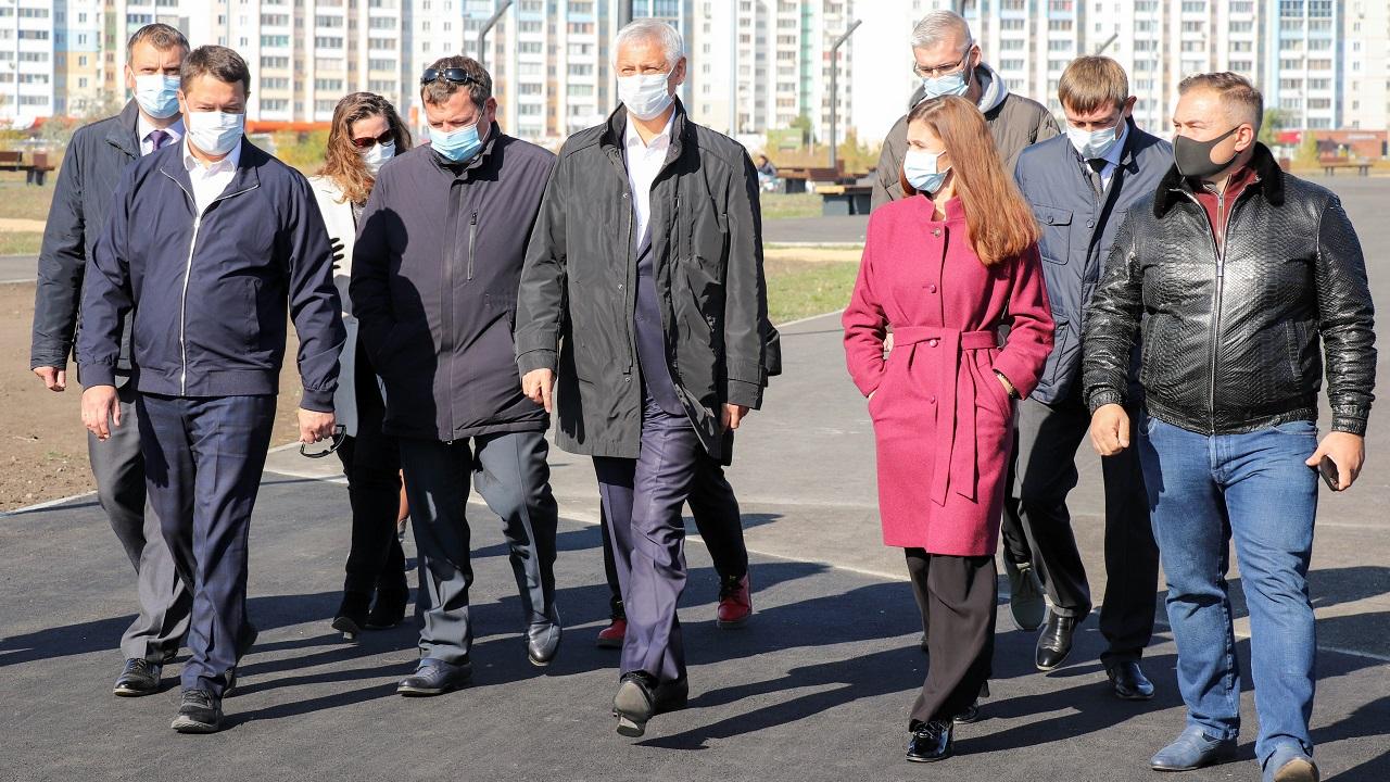 В Магнитогорске завершился первый этап строительства нового парка