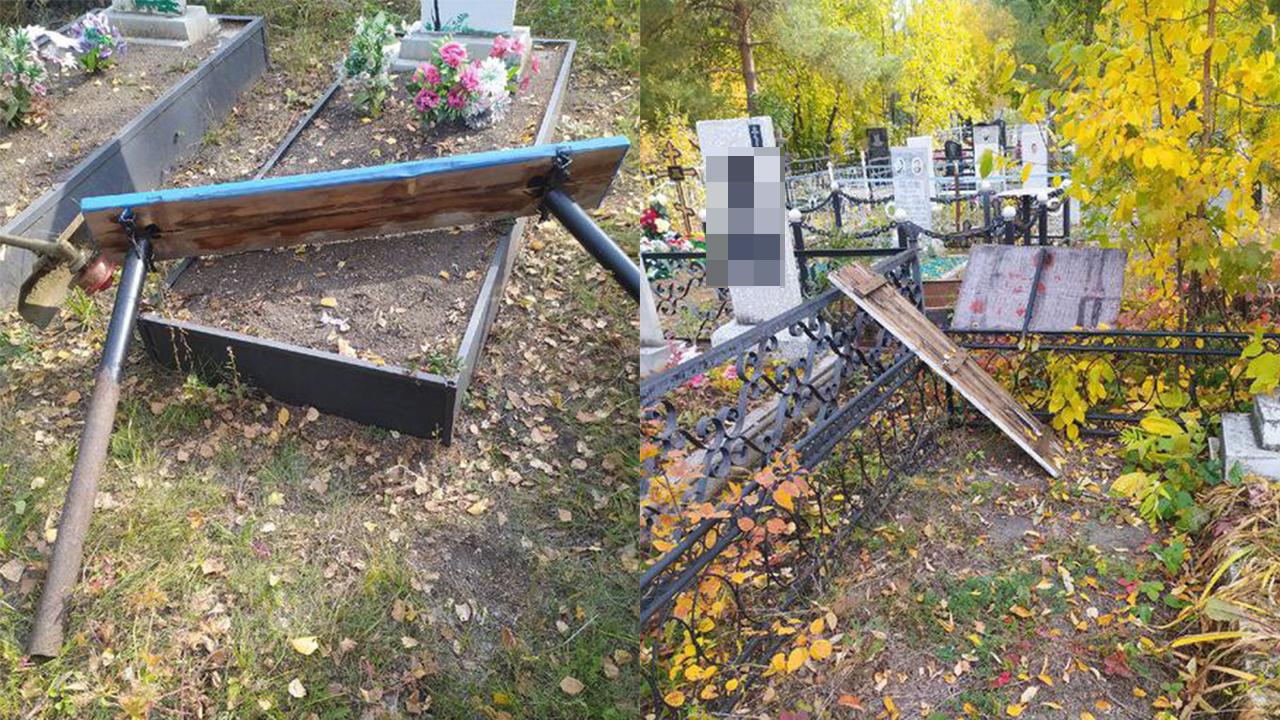 Вандалы разгромили кладбище в Челябинской области
